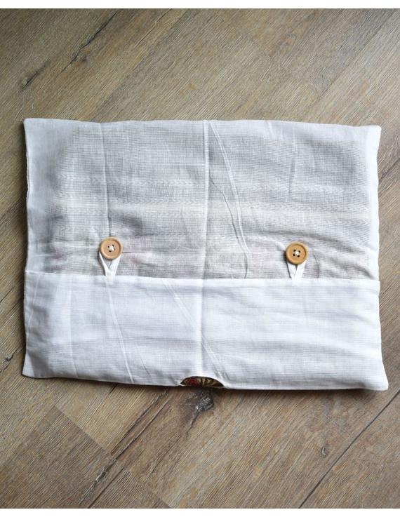Saree storage bag in ikat cotton with set of ten saree sleeves : MSK01E-3