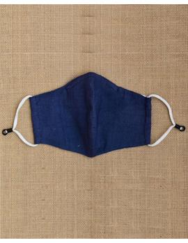 """Kritisafe"" handloom mask with filter and noseclip: KFM03-Indigo-2-sm"