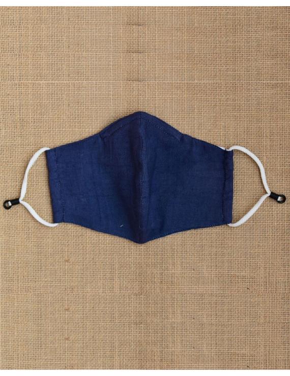 """Kritisafe"" handloom mask with filter and noseclip: KFM03-Indigo-2"