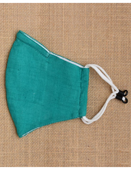 """""""Kritisafe"""" handloom mask with filter and noseclip: KFM03-Green-1-sm"""