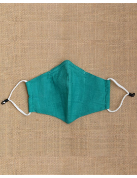 """""""Kritisafe"""" handloom mask with filter and noseclip: KFM03-Green-2-sm"""