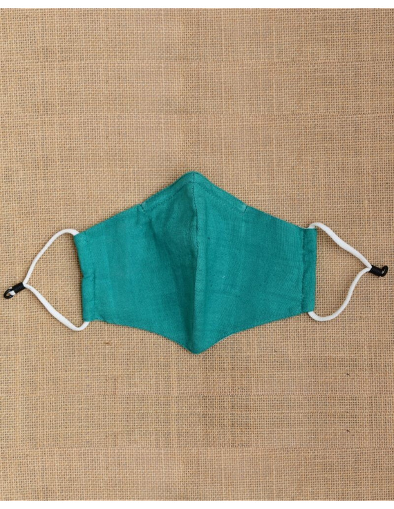 """""""Kritisafe"""" handloom mask with filter and noseclip: KFM03-Green-2"""