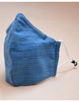"""Kritisafe"" handloom mask with filter and noseclip: KFM03-Blue-3-sm"