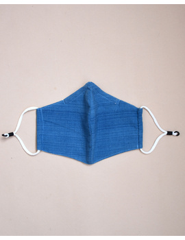 """Kritisafe"" handloom mask with filter and noseclip: KFM03-Blue-2-sm"