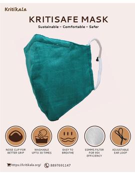 """""""Kritisafe"""" handloom mask with filter and noseclip: KFM03-KFM03B-sm"""