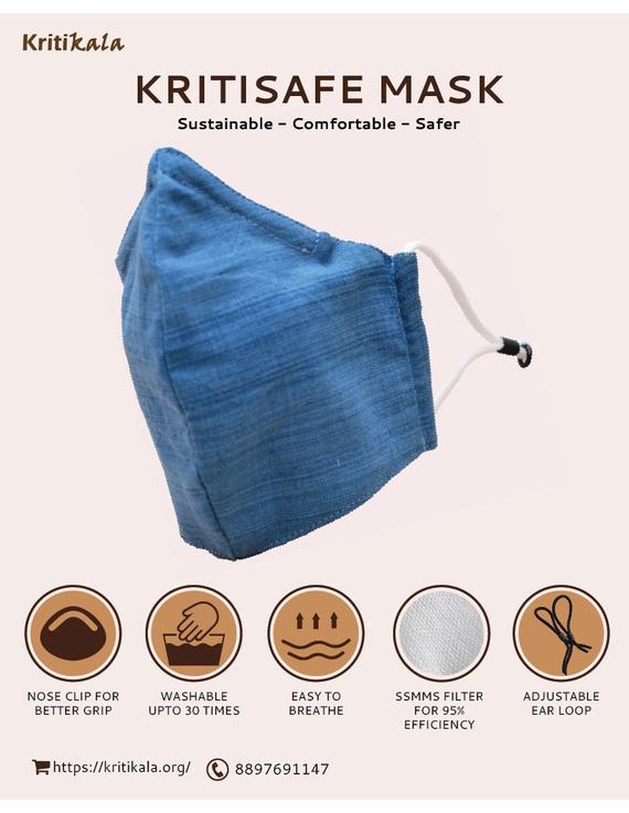 """""""Kritisafe"""" handloom mask with filter and noseclip: KFM03-KFM03C"""