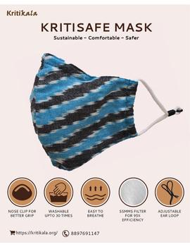"""Kritisafe"" ikat cotton mask with filter and noseclip: KFM02-KFM02A-sm"