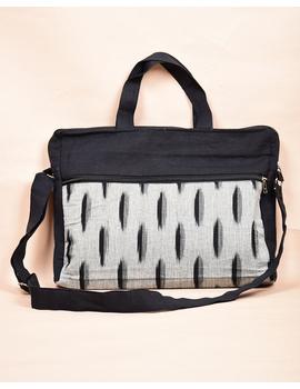 Ikat Laptop Bag with Cross body strap : Black : LBM03-LBM03-sm