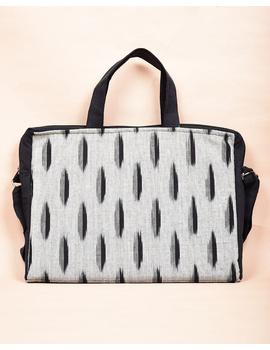 Ikat Laptop Bag with Cross body strap : Black : LBM03-2-sm
