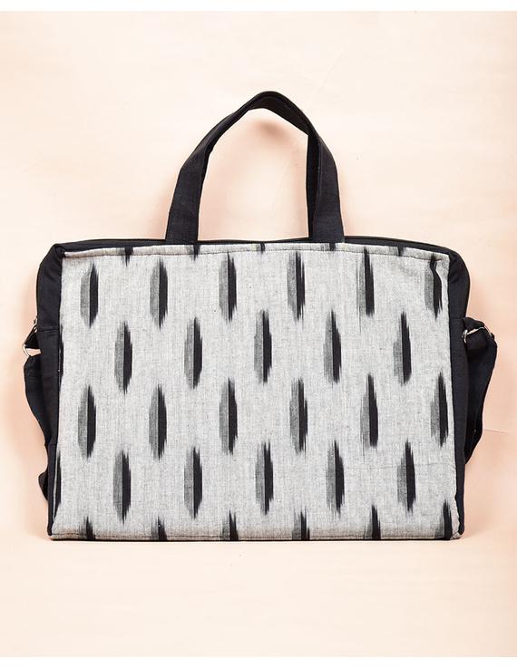 Ikat Laptop Bag with Cross body strap : Black : LBM03-2
