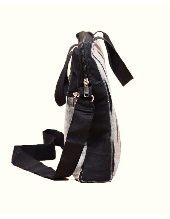Ikat Laptop Bag with Cross body strap : Black : LBM03-3