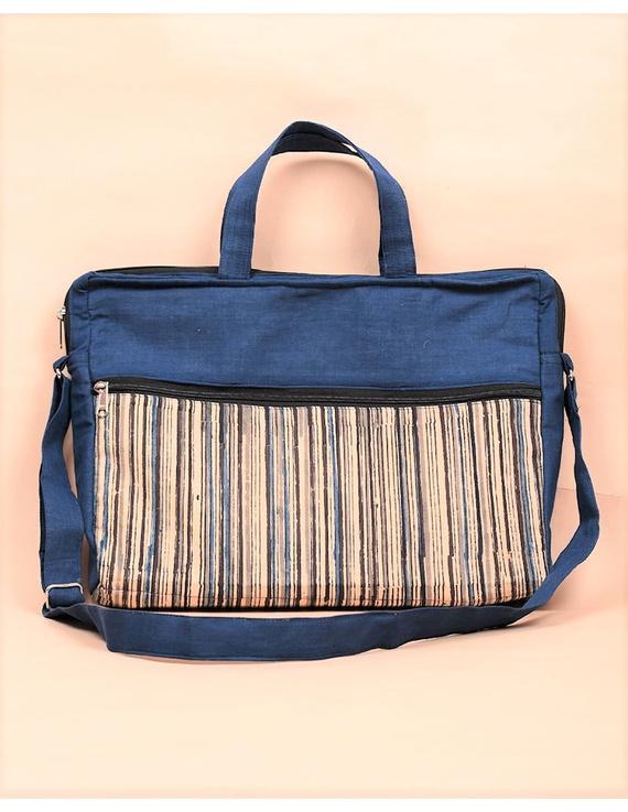 Kalamkari Laptop bag With Cross Body Strap - Blue : LBM01-LBM01