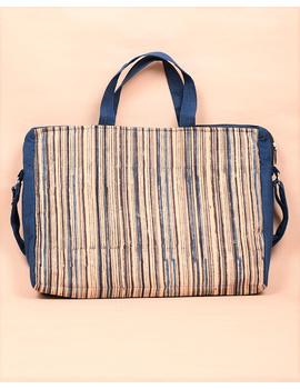 Kalamkari Laptop bag With Cross Body Strap - Blue : LBM01-2-sm