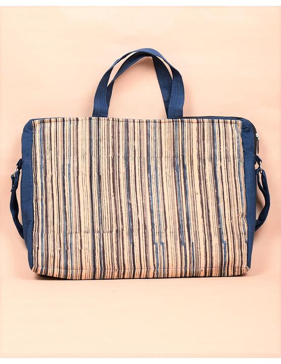 Kalamkari Laptop bag With Cross Body Strap - Blue : LBM01-2