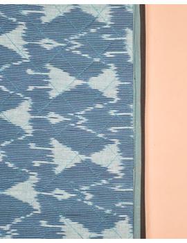BLUE CHEVRON IKAT FILE FOLDER WITH ZIP : SFZ01-2-sm