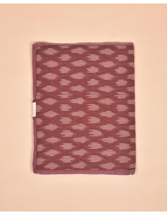 Maroon Ikat File Folder : SFB05-2