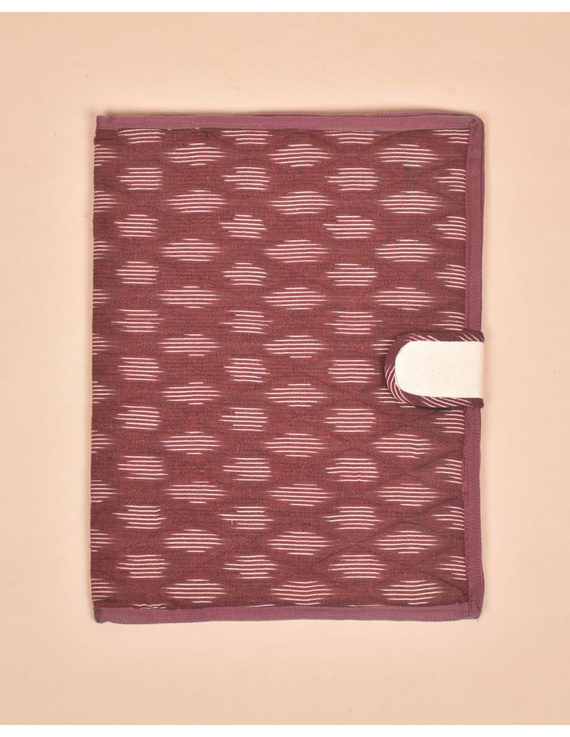 Maroon Ikat File Folder : SFB05-1