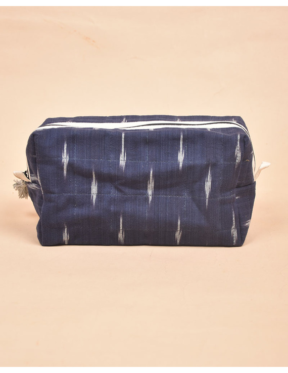 Blue Ikat Travel Pouch : VKP06-5