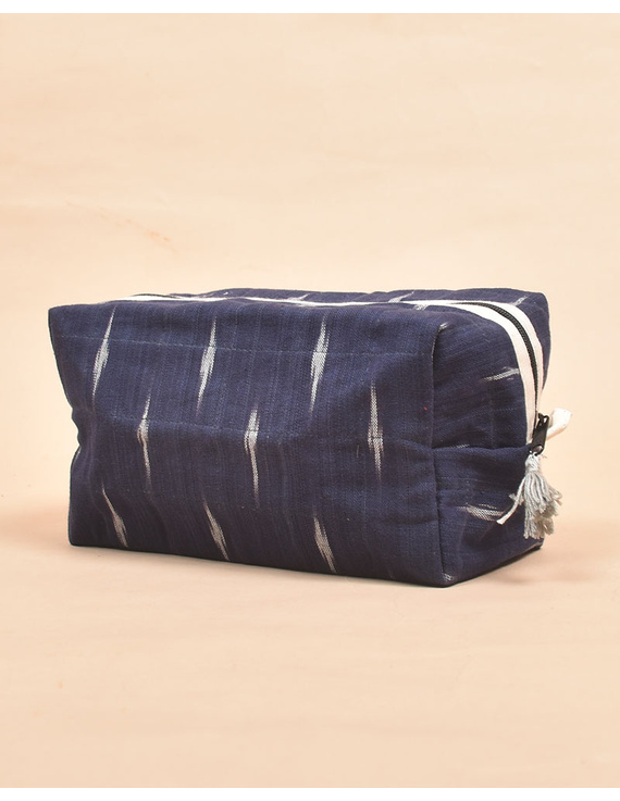 Blue Ikat Travel Pouch : VKP06-6