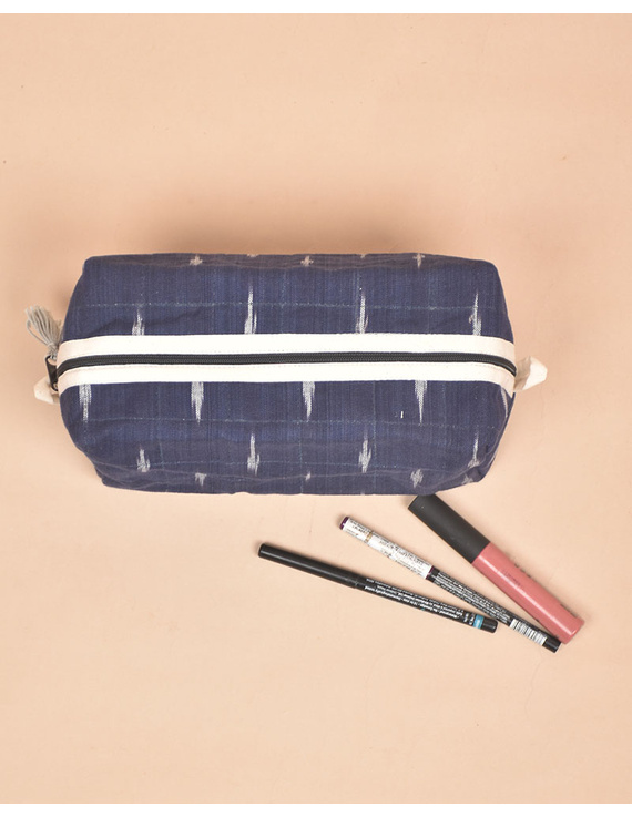 Blue Ikat Travel Pouch : VKP06-3