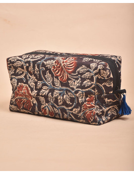 BROWN AND RED KALAMKARI TRAVEL POUCH: VKP02-VKP02-sm