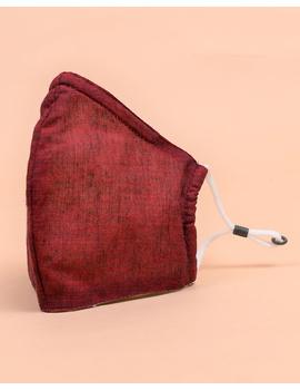 """Kritisafe"" handloom mask with filter and noseclip: KFM06-1-sm"