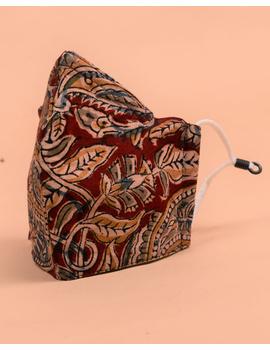 """""""Kritisafe"""" kalamkari cotton mask with filter and noseclip: KFM08-1-sm"""