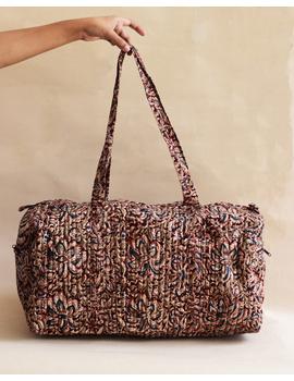 Maroon kalamkari duffle bag : VBL01-VBL01-sm