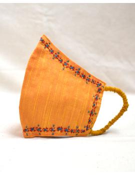 Hand embroidered silk masks-DM10-sm