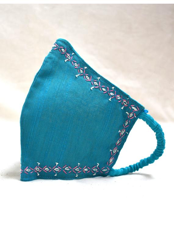 Hand embroidered silk masks-DM11