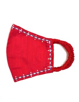 Hand embroidered silk masks-DM12-sm
