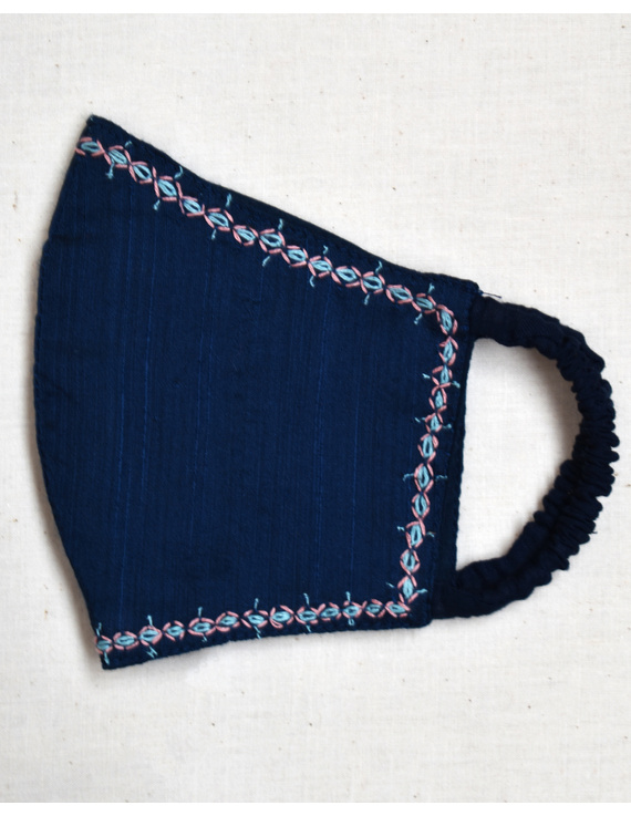 Hand embroidered silk masks-DM9