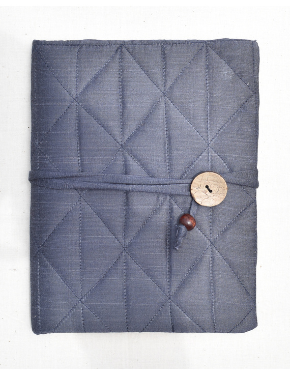Grey Silk covered hand made paper diary-STH05