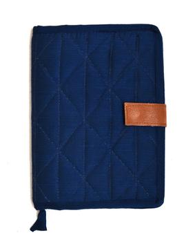 Indigo Silk covered handmade paper journal with reusable sleeve-1-sm