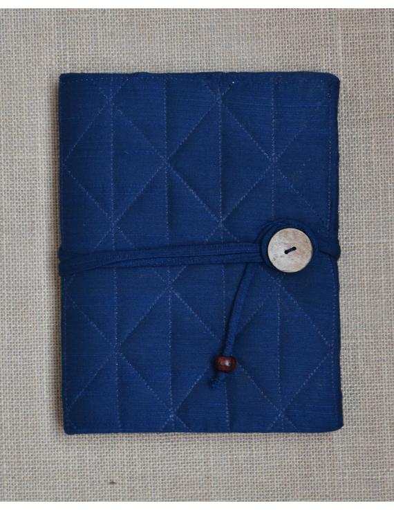 Indigo Silk covered hand made paper diary-1