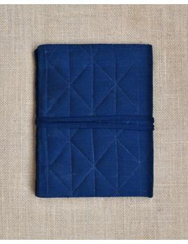 Indigo Silk covered hand made paper diary-2-sm
