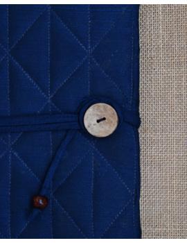 Indigo Silk covered hand made paper diary-3-sm