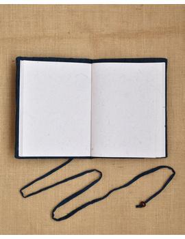 Indigo Silk covered hand made paper diary-4-sm