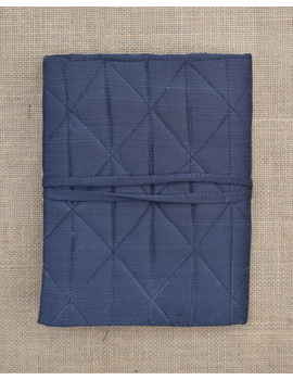 Grey Silk covered hand made paper diary-1-sm