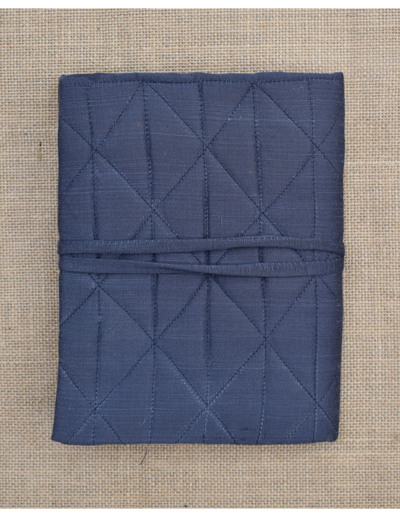 Grey Silk covered hand made paper diary-1