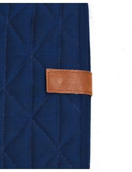 Indigo Silk covered handmade paper journal with reusable sleeve-4-sm