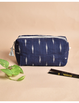 Blue Ikat Travel Pouch : VKP06-VKP06-sm