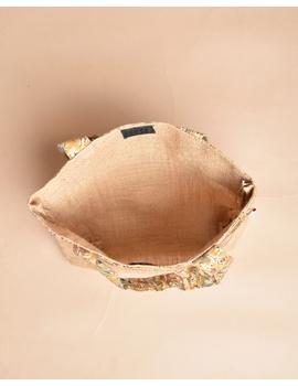 Soft jute tambulam or gift bag : MSJ03-4-sm