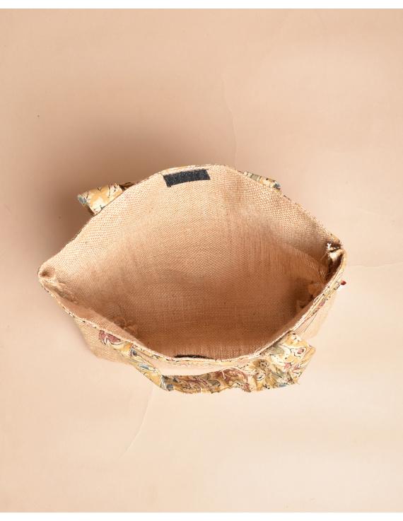 Soft jute tambulam or gift bag : MSJ03-4