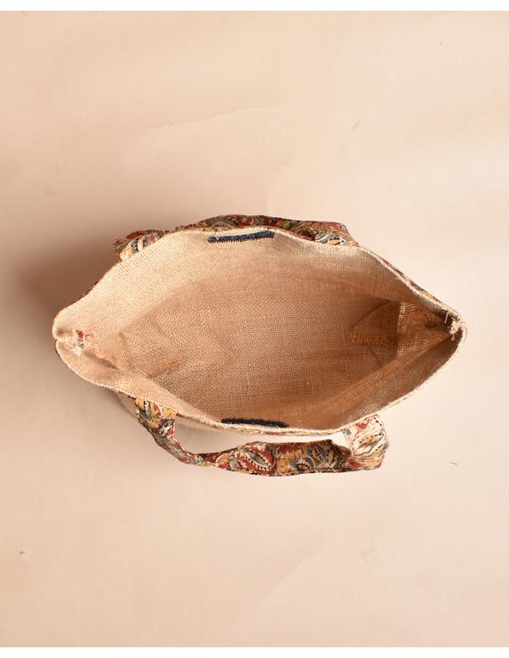 Soft jute tambulam or gift bag : MSJ03-6