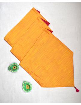 Red 'n' Yellow Silk reversible festive table runner : HTR12-HTR12D-sm