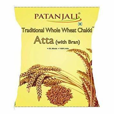 Patanjali Chakki Atta - Whole Wheat Traditional With Bran-SKU-Atta-025