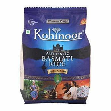 Kohinoor Basmati Rice - Authentic Pouch-SKU-Rice-044
