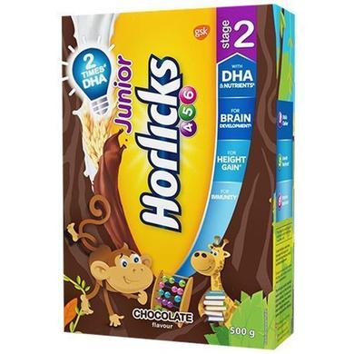 Horlicks Junior Health & Nutrition Drink - Chocolate Flavour, Stage 2, 4-6 years-SKU-HD-044