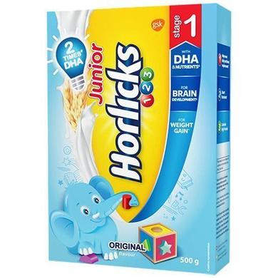 Horlicks Junior Health & Nutrition Drink - Original Flavour, Stage 1-SKU-HD-045